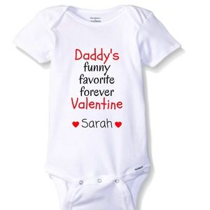 Other - Daddy's Valentine Personalized Onesie! Adorbs!